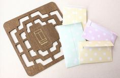 Antique Zakka Style Multi Sized Wooden Envelope Template - 4 sizes of envelopes by augustandmarch on Etsy