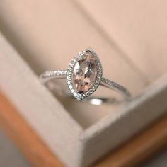 Hey, I found this really awesome Etsy listing at https://www.etsy.com/listing/261712277/marquise-cut-morganite-ring-sterling