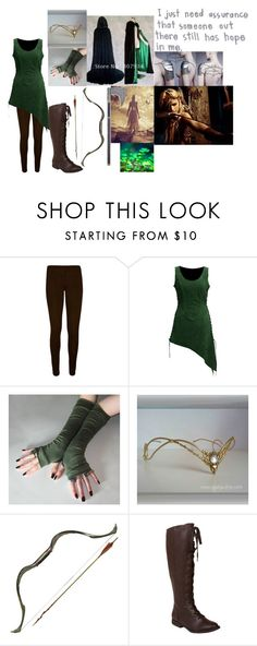 """Locust the woodland elf"" by mattiebrogan ❤ liked on Polyvore featuring WearAll and Blowfish"