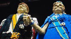 Koningspaar 3D in lego - NOS Nieuws