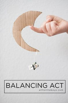 All for the Boys - balancing act toy made from cardboard