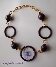Purple necklace #purple #beads #necklace
