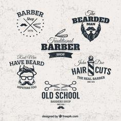 Free barber shop badges