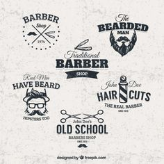 Free barber shop badges