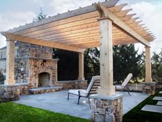 Gorgeous mortar-less fireplace with over-sized hand chiseled stone