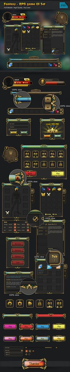 RPG game Gui set on ...