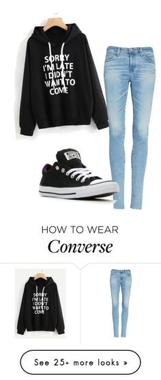 """Untitled #538"" by dragon-queenz61 on Polyvore featuring AG Adriano Goldschmied and Converse"