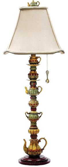 Tea Service Candlestick Table Lamp - - Amazon.com