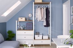 You combine ELVARLI products to create a completely personalized storage solution that fits your space perfectly - whether it's a wardrobe, wall or small business space.