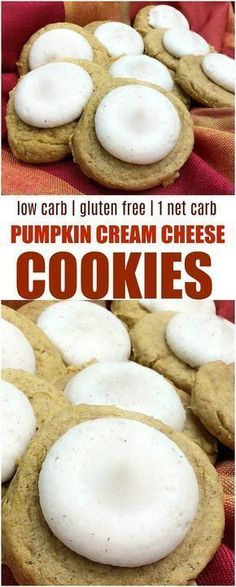 Just because you eat low carb doesn't mean you can't enjoy pumpkin. These low carb Pumpkin cream cheese cookies are the perfect taste of fall. Keto Foods, Keto Snacks, Keto Desserts, Keto Meal, Keto Cookies, Cookies Et Biscuits, Chip Cookies, Pumpkin Cookies, Cookies Snickerdoodle