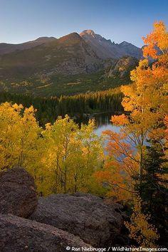 Bear Lake, Rocky Mountain National Park, Colorado; photo by Ron Niebrugge