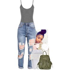 A fashion look from July 2016 featuring Puma sandals, Topshop backpacks and Michael Kors watches. Browse and shop related looks.