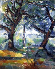 Paul Cézanne The Big Trees (1904) oil on canvas 81 x 65cm