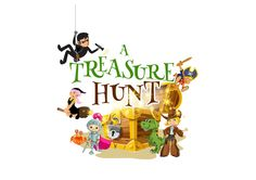 A Treasure Hunt Logo - Games for kids, ready for use to download and print