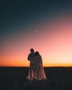 Imagem de couple, sky, and love