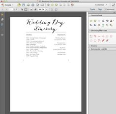 Edit And Print This Darling Free Wedding Itinerary