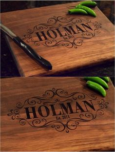 How amazing would this intricately detailed cutting board be as a wedding present? | Made on Hatch.co by independent makers & designers