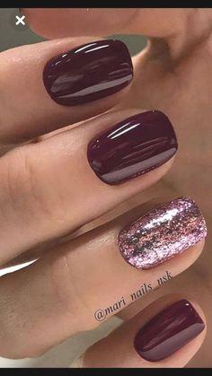 Mauve Nails, Gelish Nails, Burgundy Nails, Neutral Nails, Toe Nails, Nail Polishes, Burgundy Color, Oxblood Nails, Burgundy Nail Designs