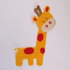 Crochet Applique Giraffe Animal For Jungle Decor 1pcs Supplies for baby clothing or Or Nursery. $5.00, via Etsy.