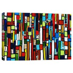 Found it at AllModern - Busy City by Heather Offord Graphic Art on Canvas