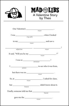 41 Super ideas for valentines games for kids classroom mad libs Valentine's Day Party Games, Funny Party Games, Adult Party Games, Adult Games, Valentines Games, Valentines Day Activities, Valentines Day Party, Valentines For Kids, Valentine Riddles