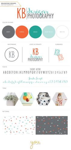 Brand style guide + mood board from You by Katie http://www.youbykatie.com/
