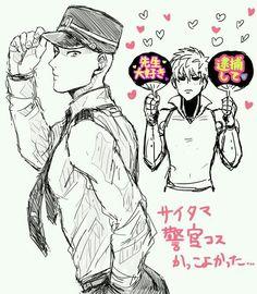 One Punch Man - Saitama policeman