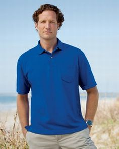 Broder | 5.3 oz. Jersey Polo with Pocket | Sport Shirts | Clemens Uniform | 2005P
