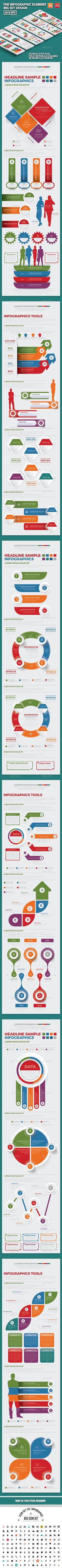 Infographics Elements  — EPS Template #graph #pie chart • Download ➝ https://graphicriver.net/item/infographics-elements/18227677?ref=pxcr