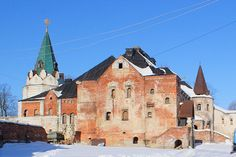 Le Réfectoire et l'Eglise Saint-Serge de Radonège - Vue de la Cour - Monastère Fiodorovsky - Pouchkine - Construit de 1913 à 1918 par l'architecte Stepan Krichinsky - Le Réfectoire était également composé des cuisines à la cave et d'une Bibliothèque.