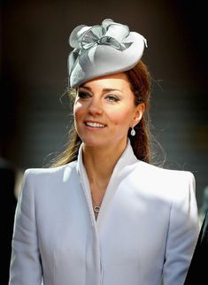 Catherine, Duchess of Cambridge arrives at St Andrew's Cathedral for 2014 Easter Sunday Service in Sydney, Australia.
