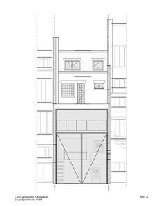 Antwerp Town House by Sculp[IT] Features World's Largest Pivoting Door Mini Clubman, Pivot Doors, Entry Doors, Construction Documents, Antwerp, Interior Architecture, Townhouse, Floor Plans, Image 30