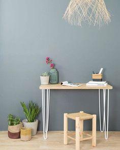 pieds bureau acier ripaton Blueberry Home, Decoration, Office Desk, Corner Desk, Bedroom, Art Mural, Work Spaces, Furniture, Home Decor