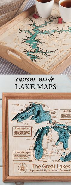 Custom-made maps and cribbage boards commemorate that special lake in your life. Handcrafted in the USA.
