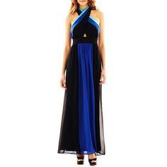 63c396a75fba Bisou Bisou® Colorblock Halter Maxi Dress - jcpenney  45.00 Halter Maxi  Dresses