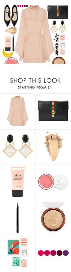 """""""Quick Style Summer Date!"""" by j4wahir ❤ liked on Polyvore featuring Emilio Pucci, Gucci, Marni, Stila, MAC Cosmetics, DENY Designs, Deborah Lippmann, fruits, contestentry and womensFashion"""