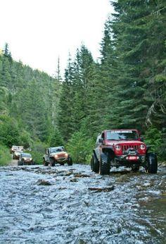 Follow the Jeep!