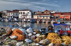 This photo from Lesvos, North Aegean is titled 'Old port'. Chios, Old Port, Mediterranean Sea, Archipelago, Macedonia, Greek Islands, The Good Place, Travel Destinations, Beautiful Places