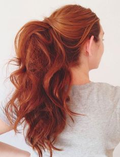 Gorgeous Hair Ideas for Holiday Parties- A teased ponytail- Make your phony a conversation starter by teasing, curling, and using about a half a can of hairspray.
