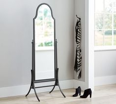 pottery barnu0027s oversized floor mirrors feature simple designs and easy style find leaning floor mirrors and create a warm space with reflective light