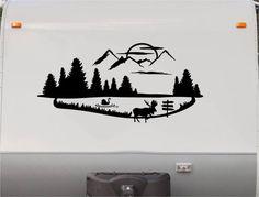 Mountains Motorhome Stripe Kit - RV Stickers - Trailer Stickers- Camper Vinyl Decal- Sticker Graphic- Motorhome Decals- RV Stripe Kit-