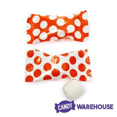 Great for your next orange themed event — Orange Polka Dots Wrapped Buttermint Creams Wholesale Candy, Butter Mints, Types Of Candy, Mint Creams, Orange Candy, Bulk Candy, New Inventions, Candy Buffet, Dress To Impress