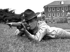 U.S. Marine in prone with M1903 Springfield. Old Corps! Once A Marine, Marine Mom, Us Marine Corps, Banana Wars, Usmc Birthday, Second Lieutenant, Ww1 Soldiers, Springfield 1903, United States Army