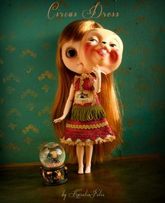 This is Circus - cameo blythe dress. limited edition doll outfit. fits licca pullip dal. handmade by KarolinFelix