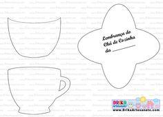 Molde de lembrança de chá de cozinha em EVA - Drika Artesanato - O seu Blog de Artesanato.