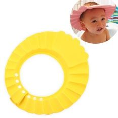 Cute Baby Shower Cap Kids Toddlers Safe Adjustable Waterproof Shampoo Shower Bathing Protection (Yellow)