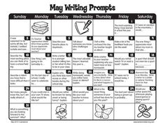 The end of the school year doesn't mean the end of writing! Here are writing prompts for every day of May!: