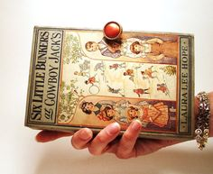 Book Clutch Six Little Bunkers Vintage Book Purse by RokkiHandbags