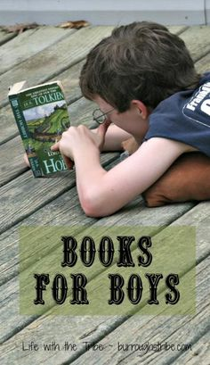 Books for Boys - good suggestions for a reading list. For more book fun, follow us at www.facebook.com/booktasticfun