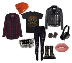 Black Veil Brides 1 by causingpanicatthetheater on Polyvore featuring Rails, Acne Studios, Neff, Yves Saint Laurent, Lime Crime and Sony